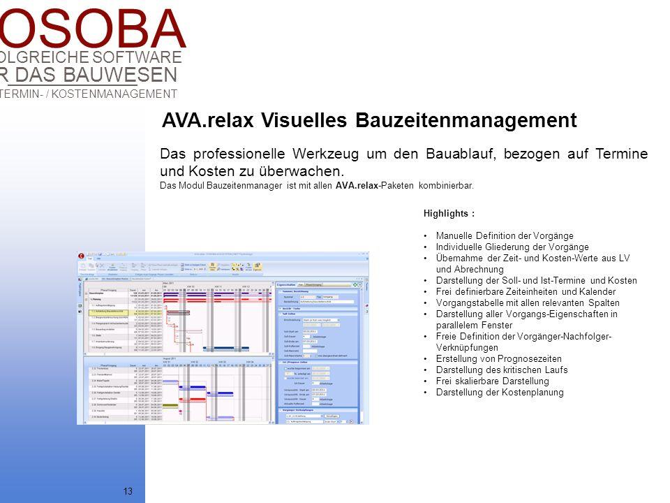AVA.relax Visuelles Bauzeitenmanagement