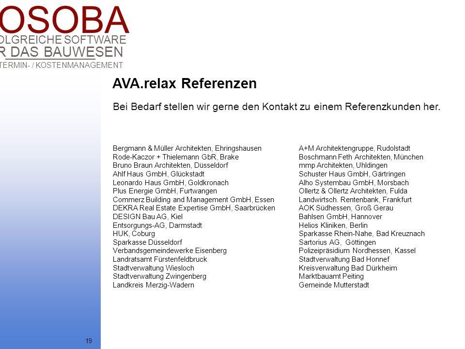 AVA.relax Referenzen Bei Bedarf stellen wir gerne den Kontakt zu einem Referenzkunden her.