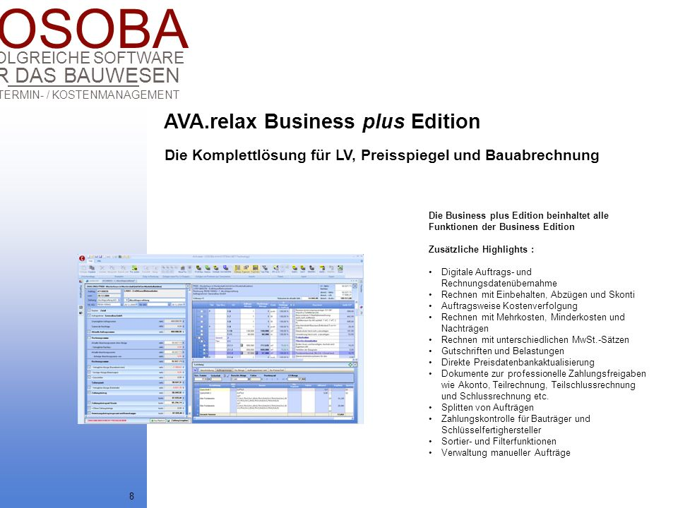 AVA.relax Business plus Edition