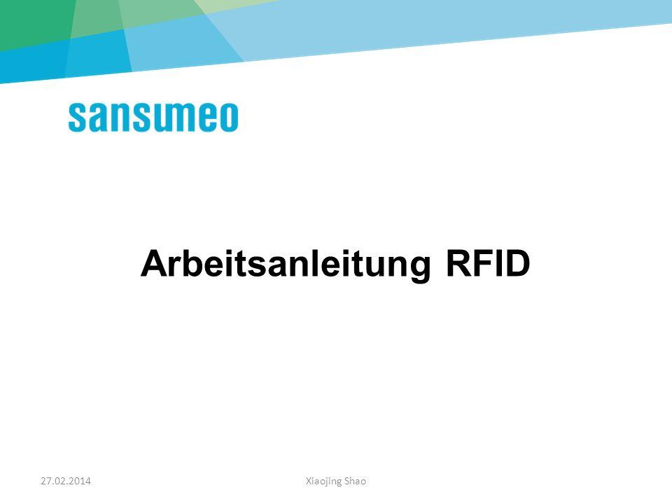 Arbeitsanleitung RFID