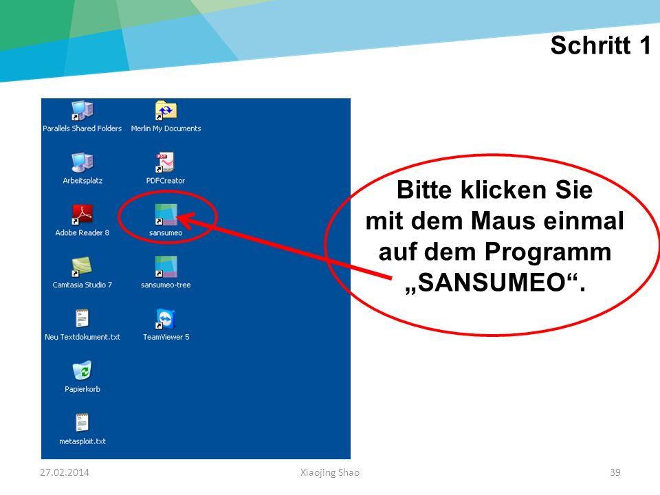 """mit dem Maus einmal auf dem Programm """"SANSUMEO ."""