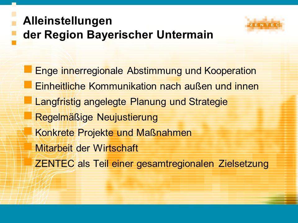 Alleinstellungen der Region Bayerischer Untermain