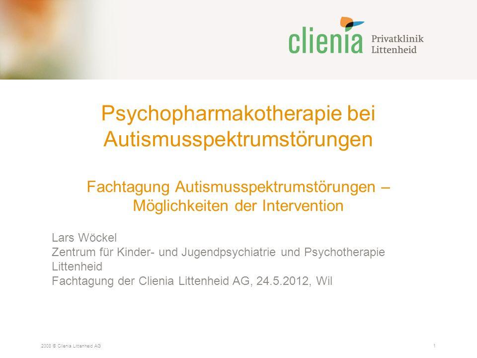Psychopharmakotherapie bei Autismusspektrumstörungen Fachtagung Autismusspektrumstörungen – Möglichkeiten der Intervention