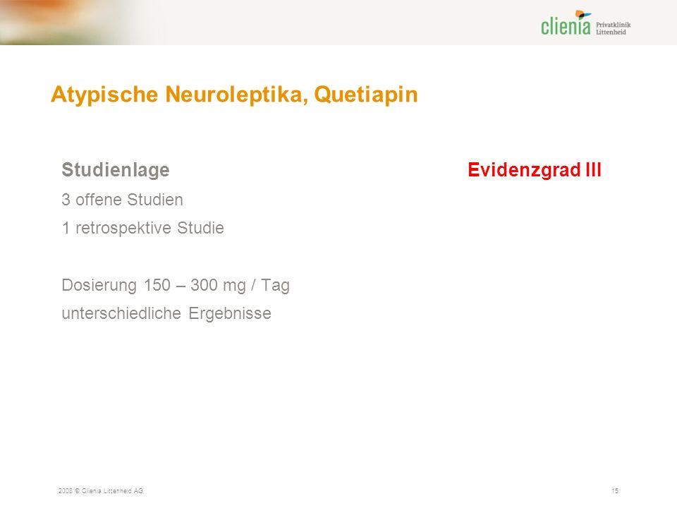 Atypische Neuroleptika, Quetiapin