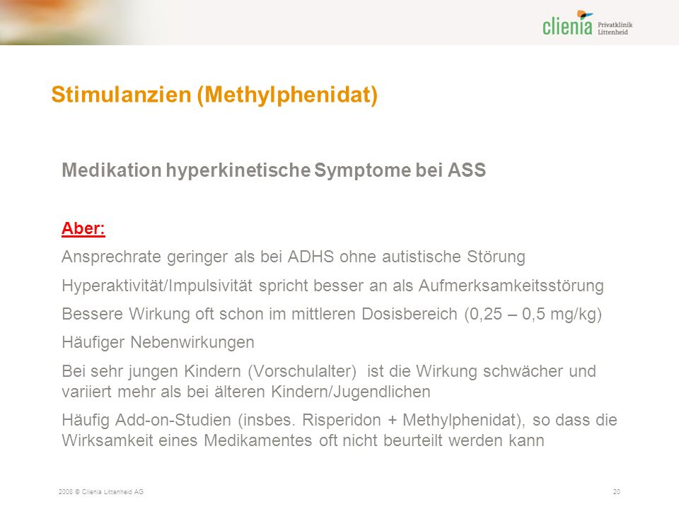 Stimulanzien (Methylphenidat)