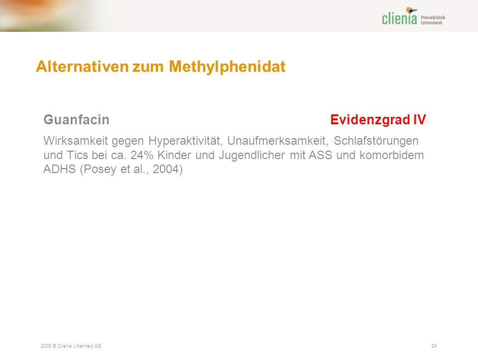 Alternativen zum Methylphenidat