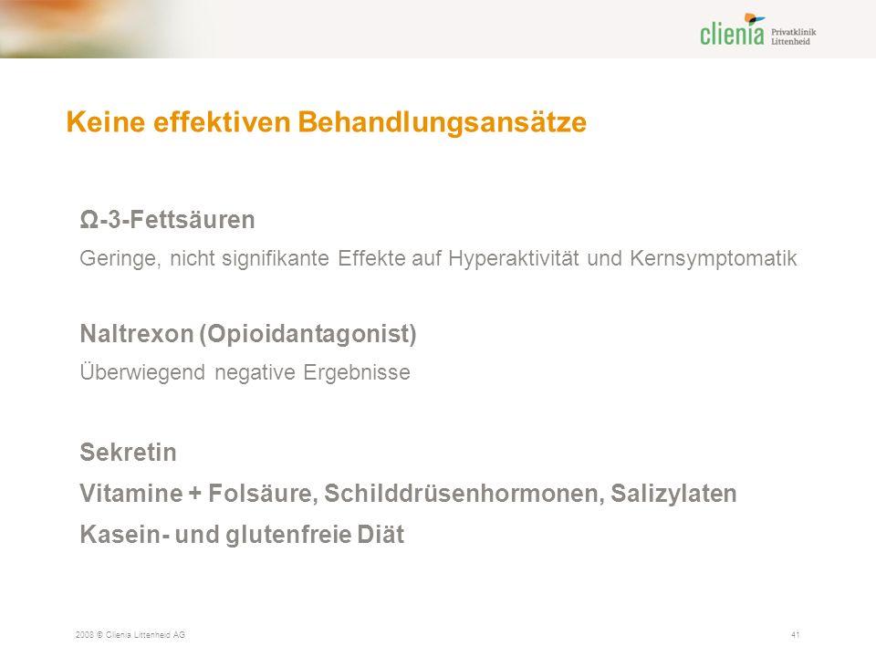 Keine effektiven Behandlungsansätze