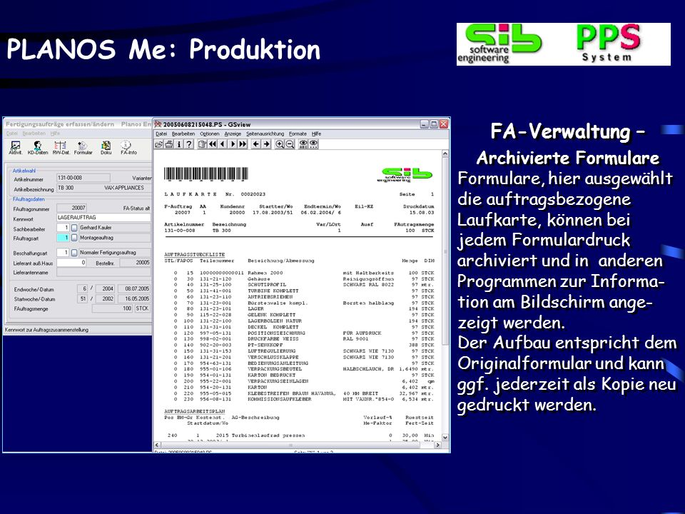 Archivierte Formulare
