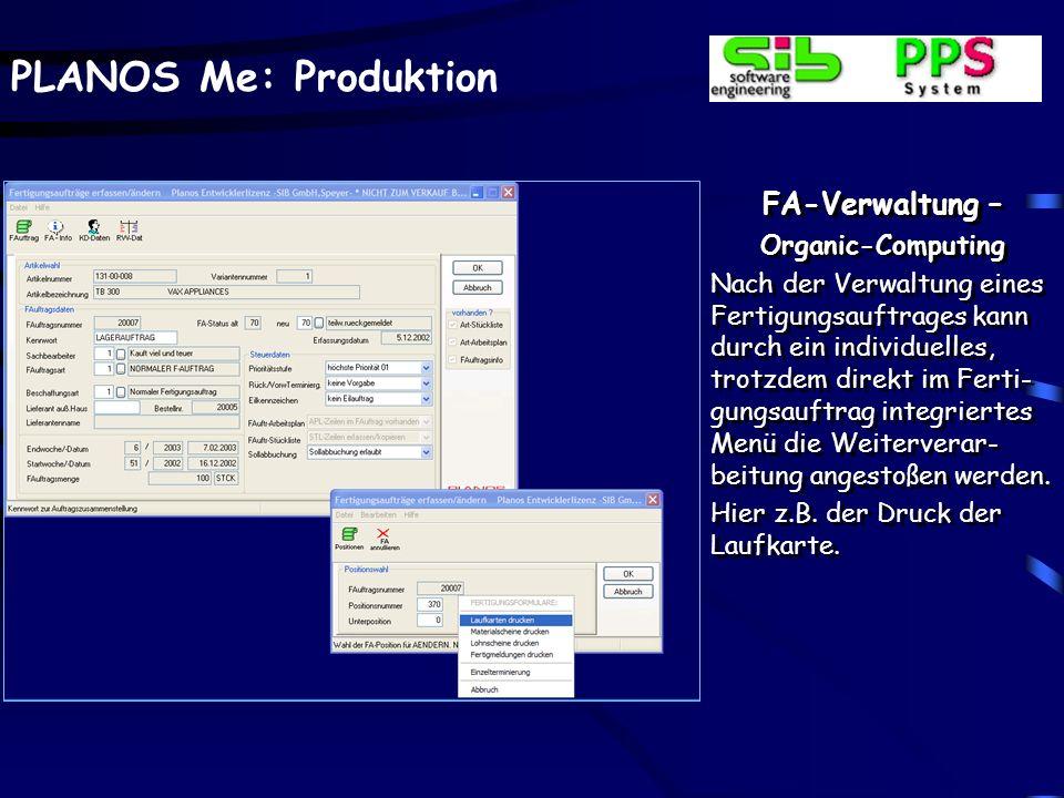 FA-Verwaltung – Organic-Computing