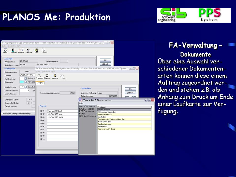 FA-Verwaltung – Dokumente