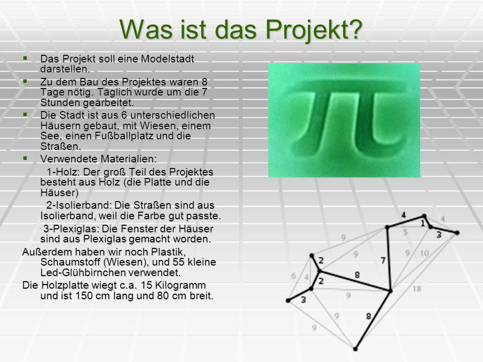 Was ist das Projekt Das Projekt soll eine Modelstadt darstellen.