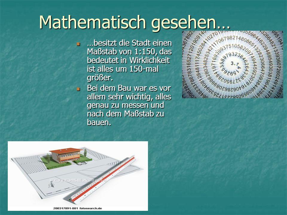 Mathematisch gesehen…