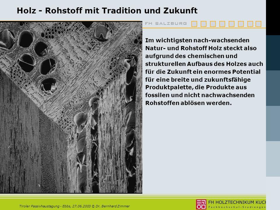 Holz - Rohstoff mit Tradition und Zukunft