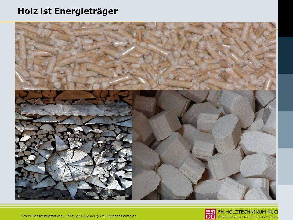 Holz ist Energieträger