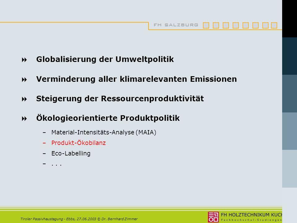 Globalisierung der Umweltpolitik