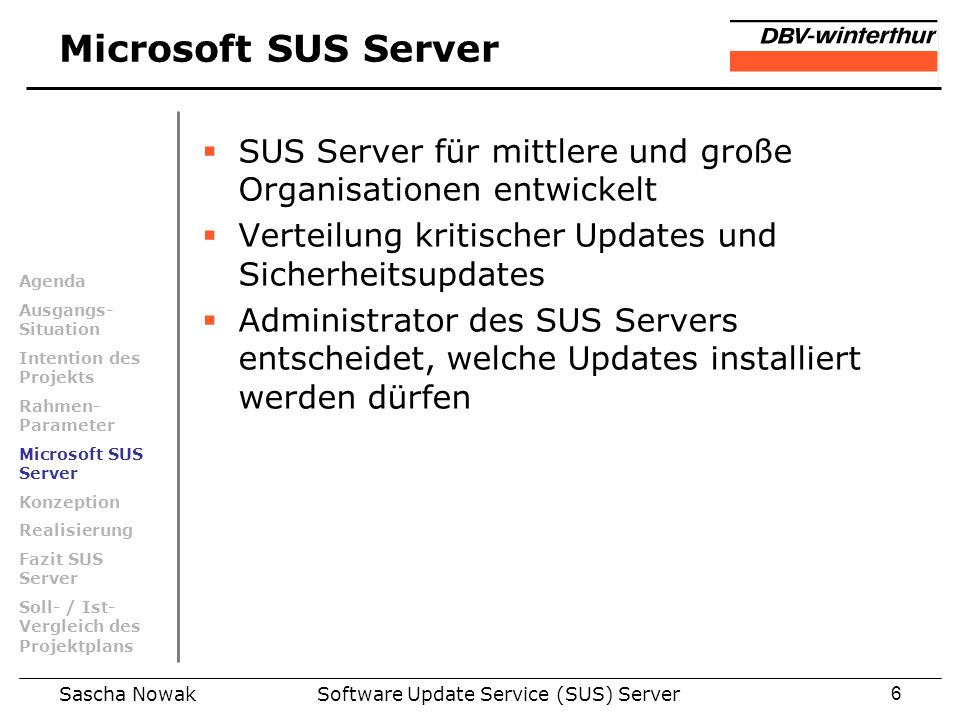 Software Update Service (SUS) Server