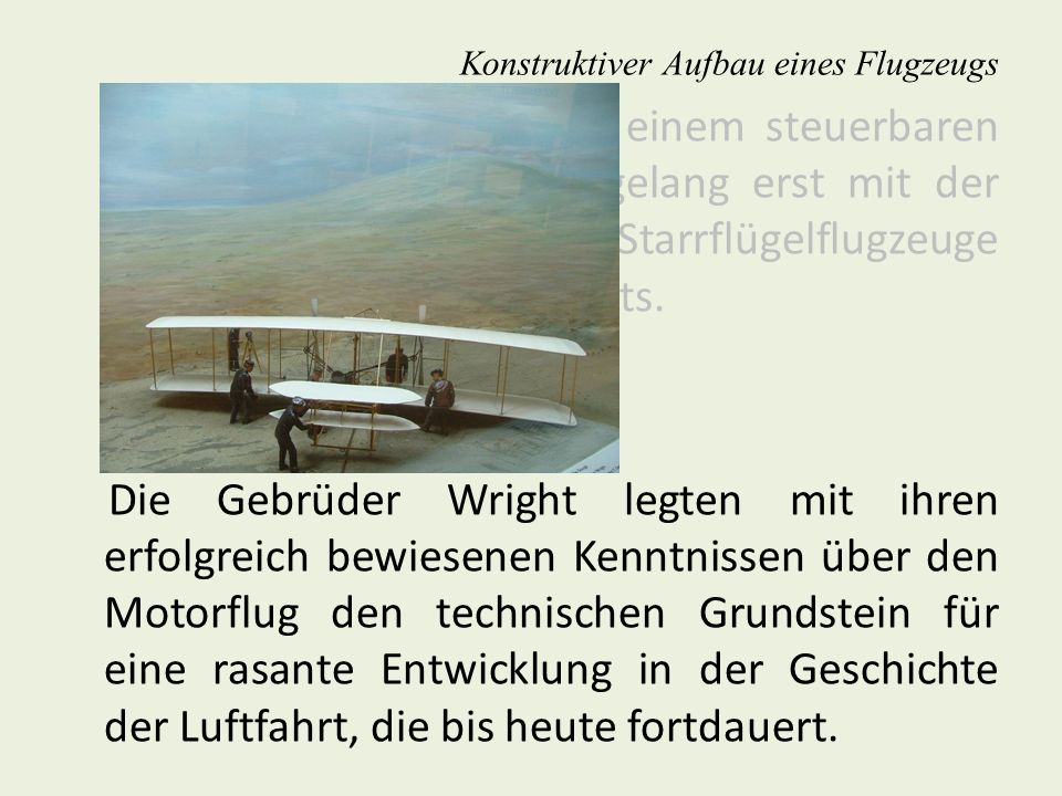 Konstruktiver Aufbau eines Flugzeugs