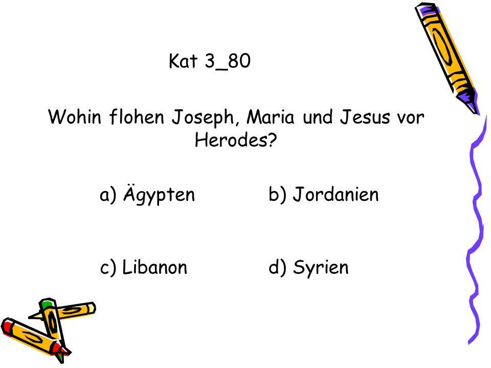 Wohin flohen Joseph, Maria und Jesus vor Herodes