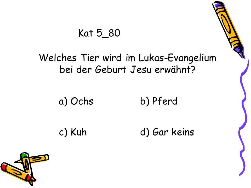 Welches Tier wird im Lukas-Evangelium bei der Geburt Jesu erwähnt
