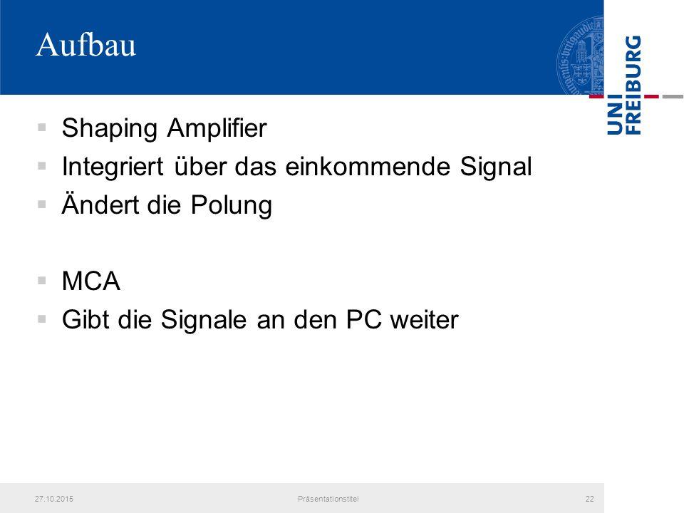 Aufbau Shaping Amplifier Integriert über das einkommende Signal