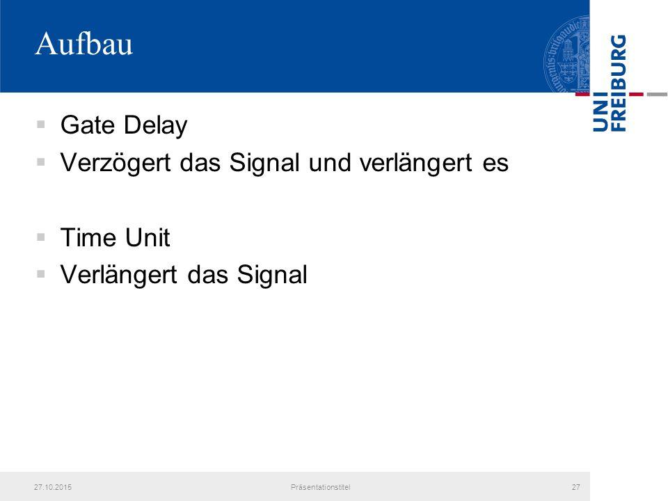 Aufbau Gate Delay Verzögert das Signal und verlängert es Time Unit