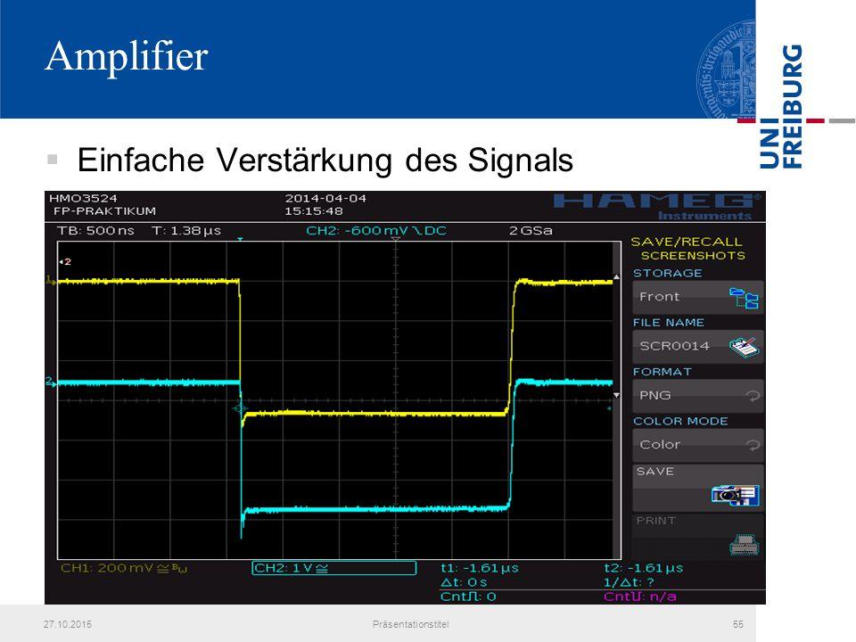 Amplifier Einfache Verstärkung des Signals 25.04.2017