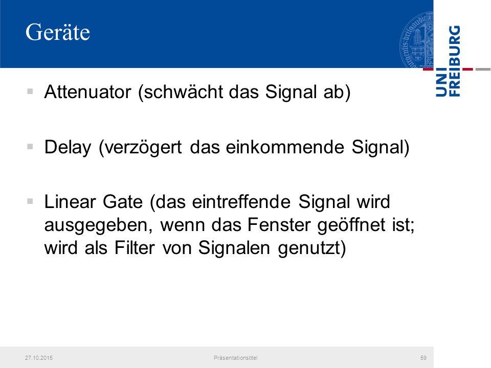 Geräte Attenuator (schwächt das Signal ab)