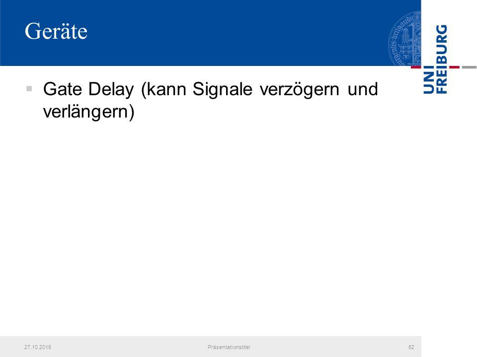 Geräte Gate Delay (kann Signale verzögern und verlängern) 25.04.2017