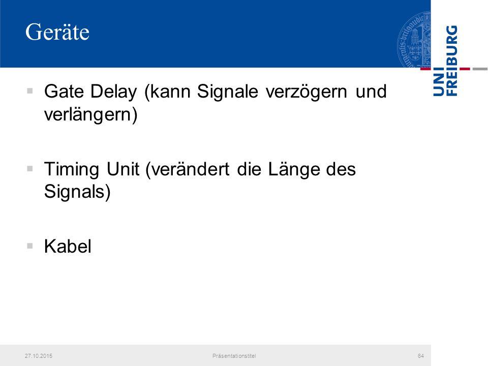 Geräte Gate Delay (kann Signale verzögern und verlängern)