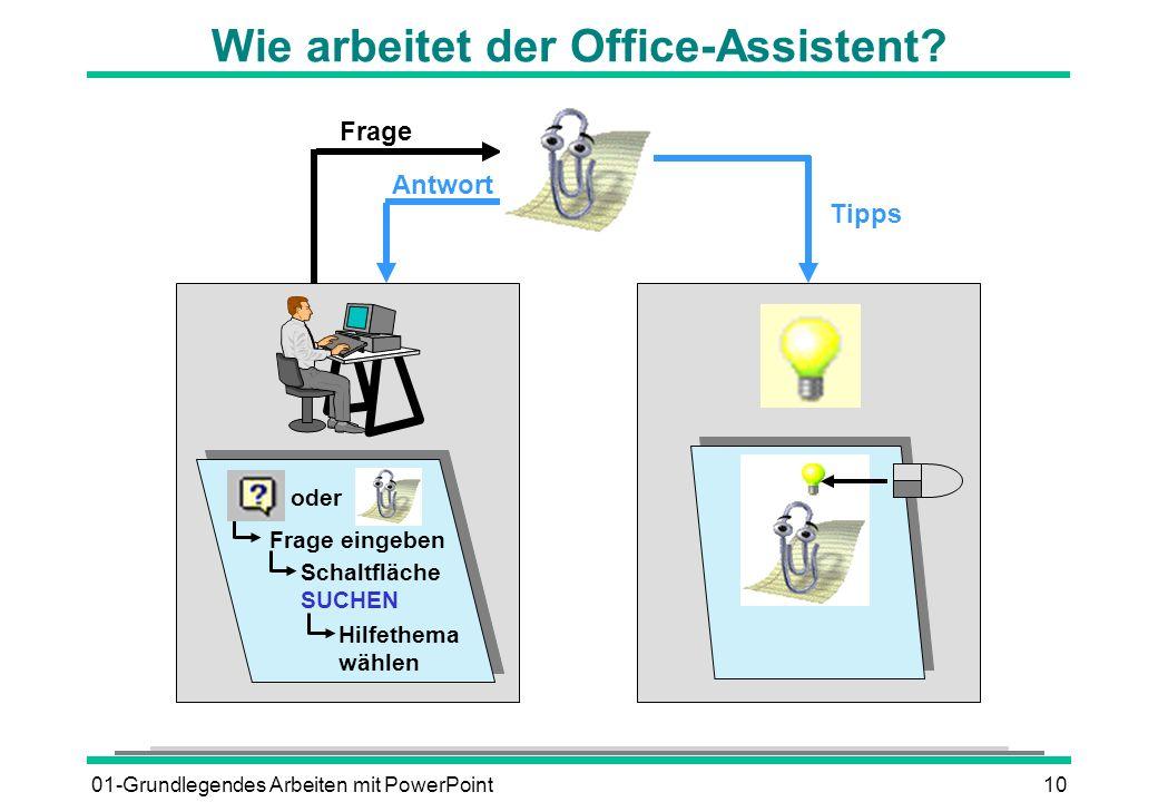 Wie arbeitet der Office-Assistent