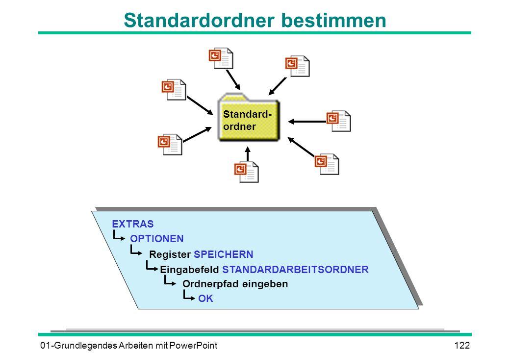 Standardordner bestimmen