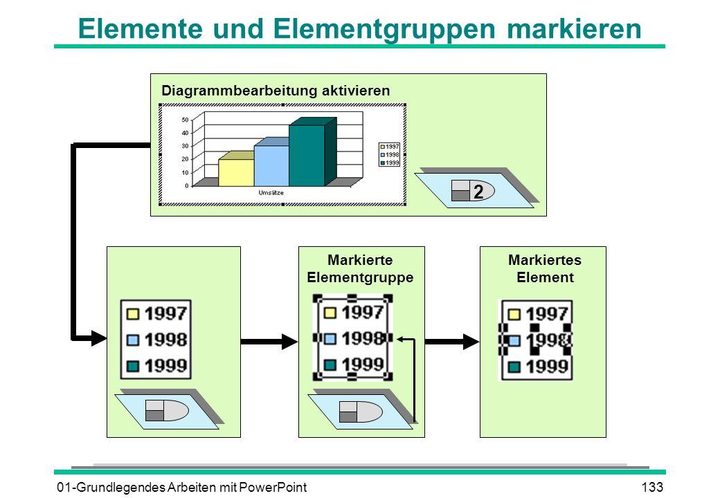 Elemente und Elementgruppen markieren