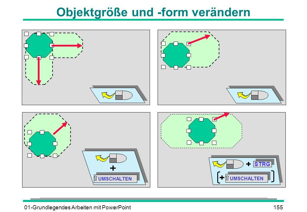 Objektgröße und -form verändern