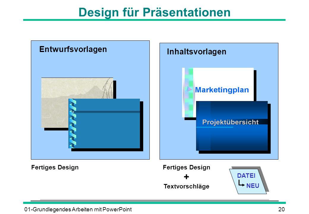 Design für Präsentationen