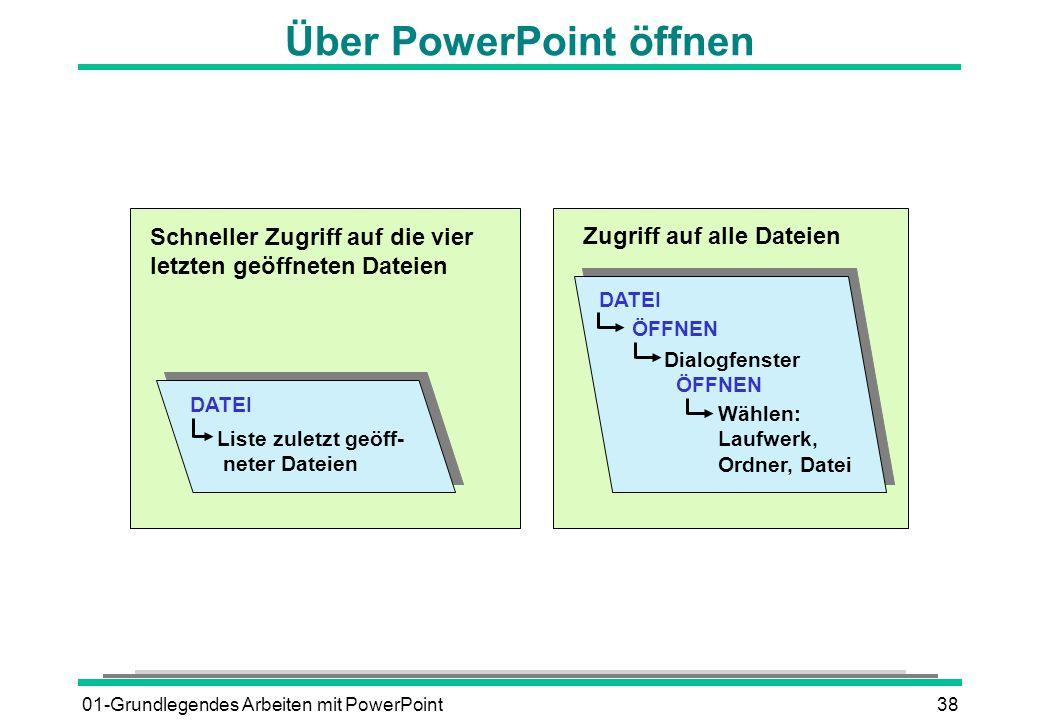 Über PowerPoint öffnen