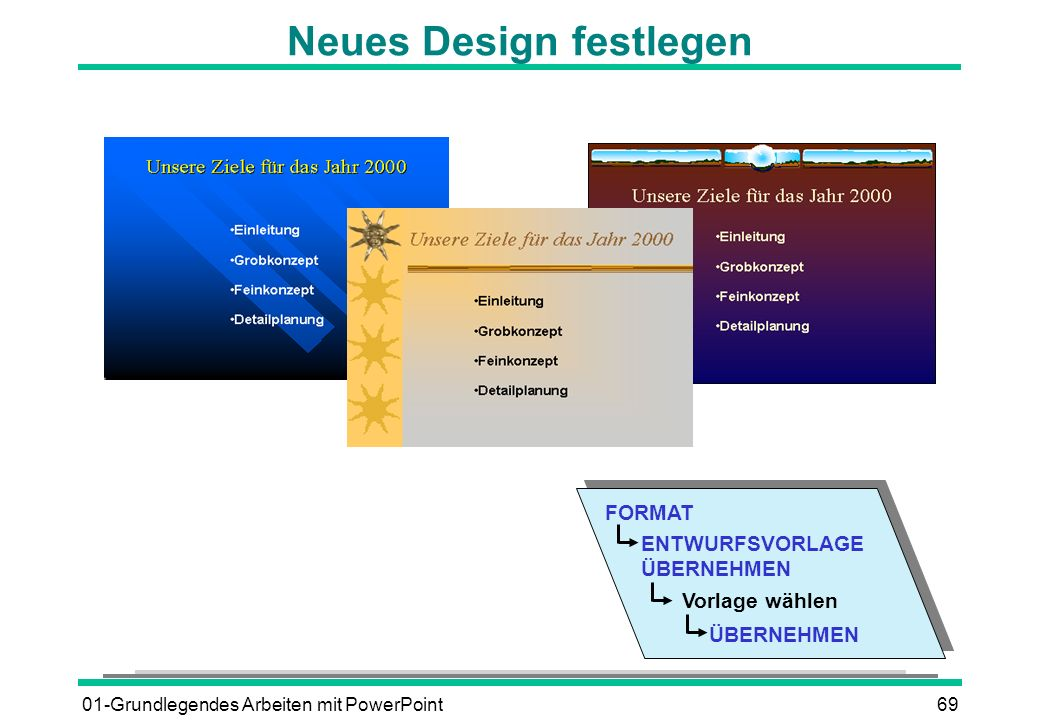 Neues Design festlegen