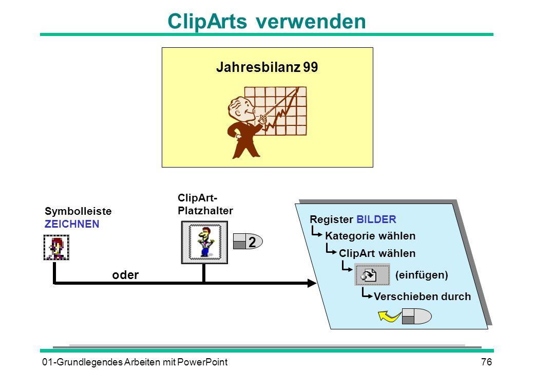 ClipArts verwenden Jahresbilanz 99 2 oder ClipArt- Platzhalter