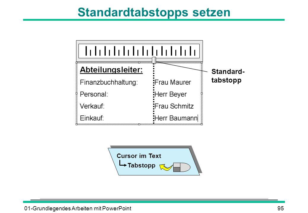 Standardtabstopps setzen