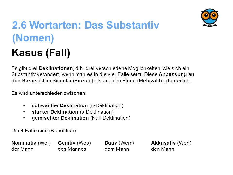 Deutsche Schulgrammatik: Die Wortarten