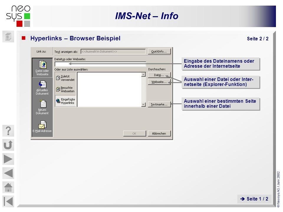 Hyperlinks – Browser Beispiel Seite 2 / 2