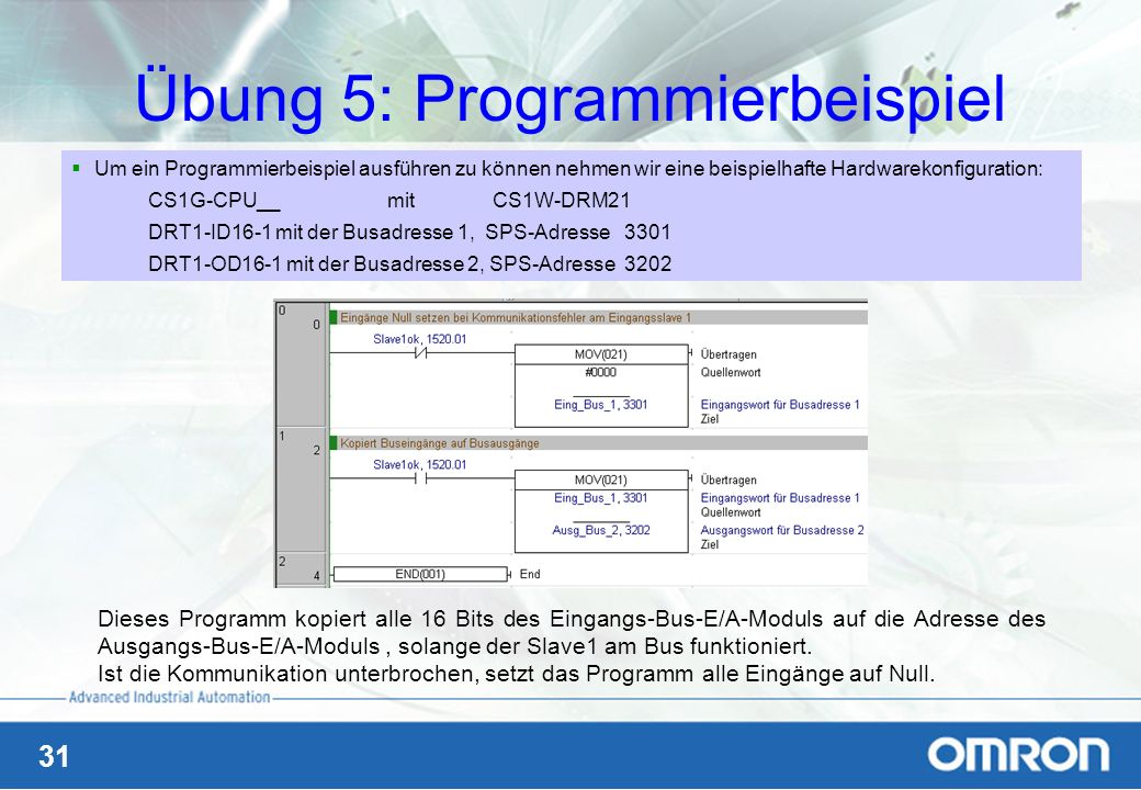 Übung 5: Programmierbeispiel