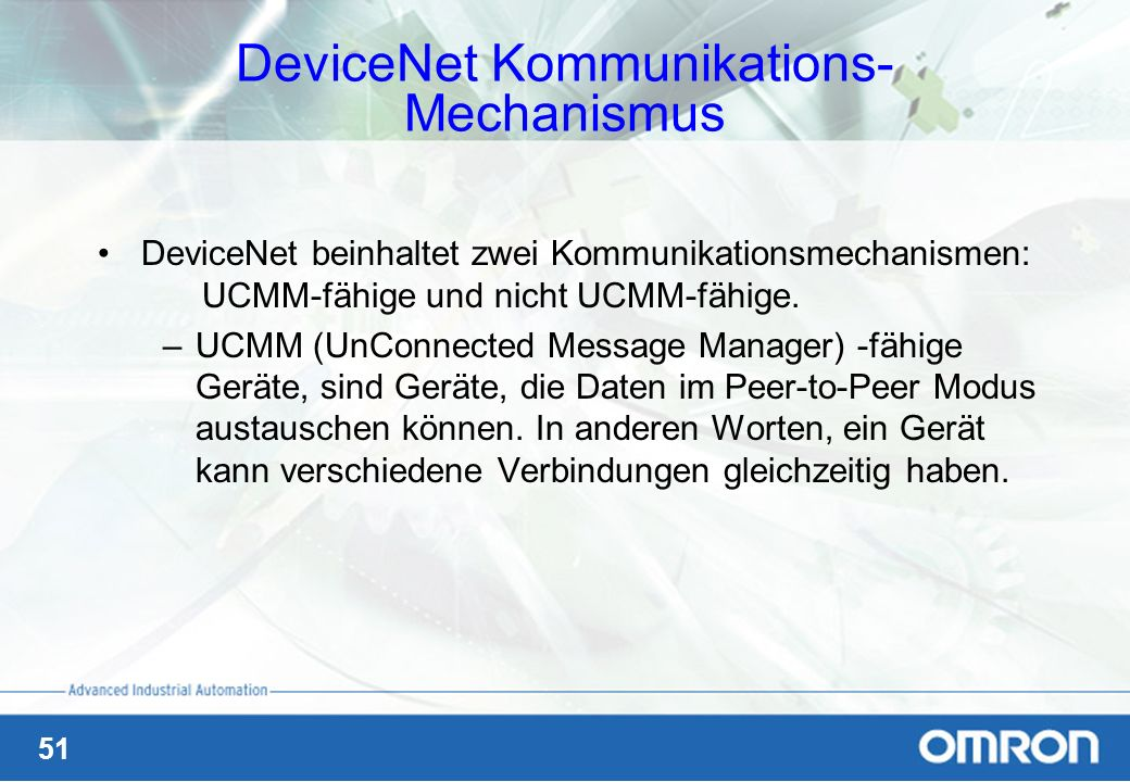 DeviceNet Kommunikations- Mechanismus