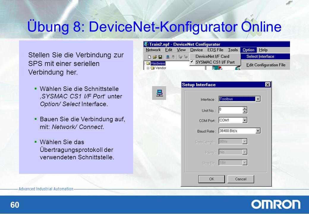 Übung 8: DeviceNet-Konfigurator Online