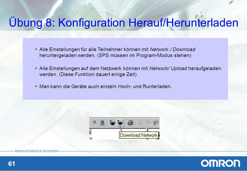Übung 8: Konfiguration Herauf/Herunterladen