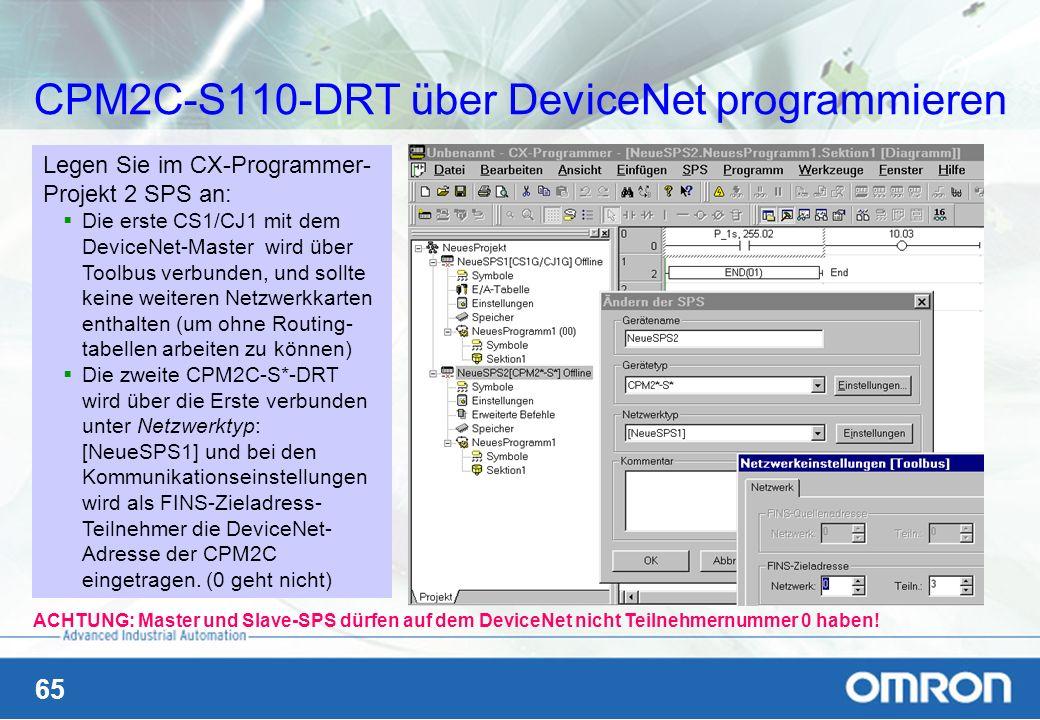 CPM2C-S110-DRT über DeviceNet programmieren