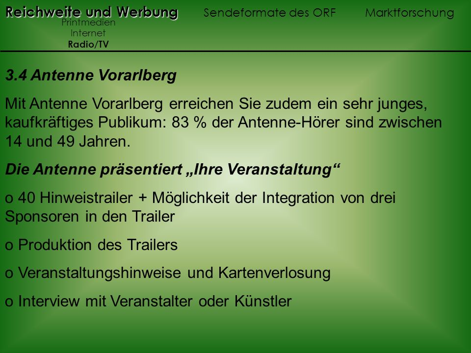 """Die Antenne präsentiert """"Ihre Veranstaltung"""