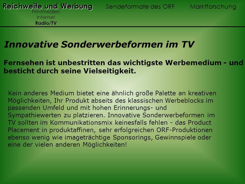 Innovative Sonderwerbeformen im TV