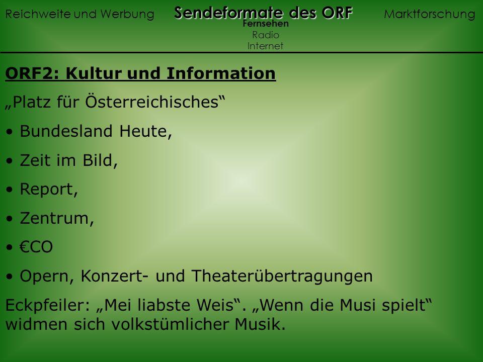 """ORF2: Kultur und Information """"Platz für Österreichisches"""