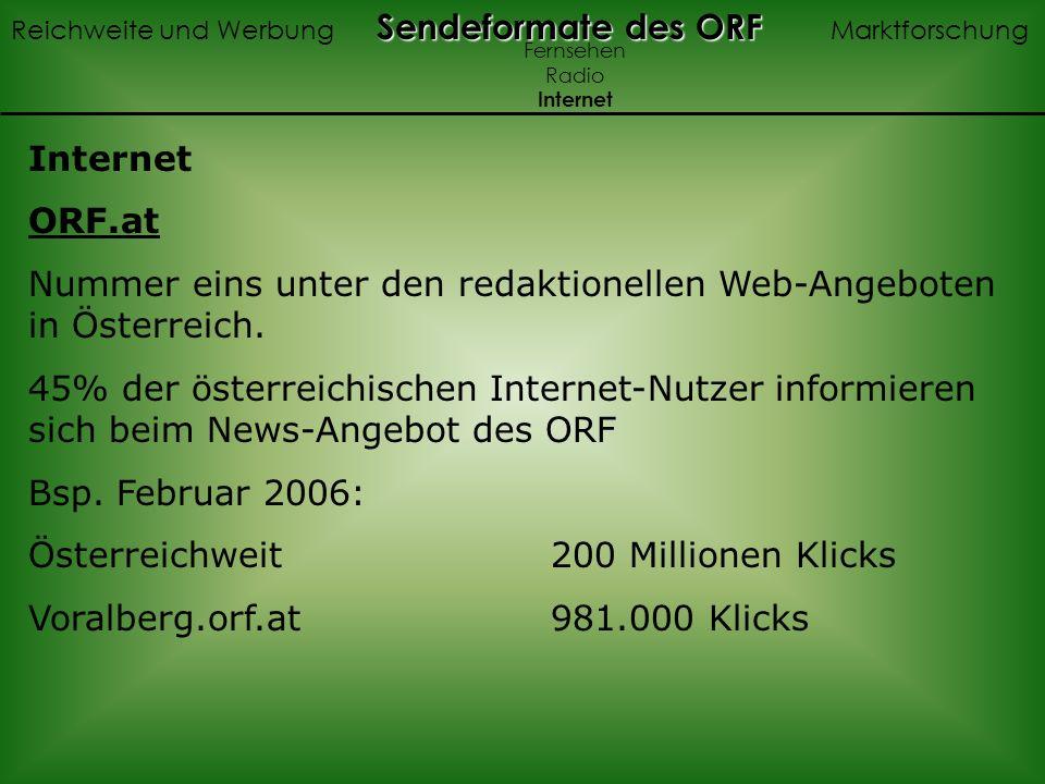 Nummer eins unter den redaktionellen Web-Angeboten in Österreich.