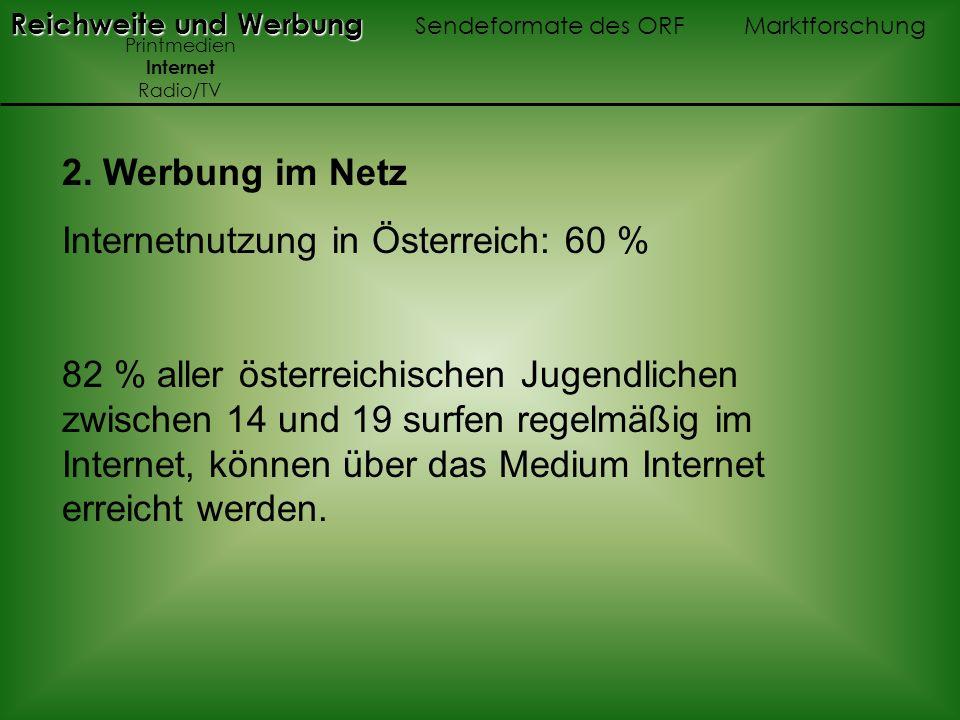 Internetnutzung in Österreich: 60 %